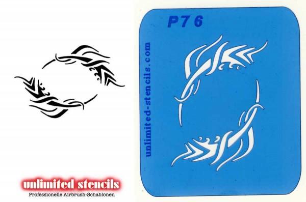 Mylar Airbrush Tattoo / Bodypainting Schablone TRIBAL MP76