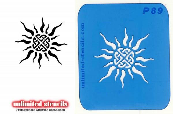 Mylar Airbrush Tattoo / Bodypainting Schablone KELTISCHE SONNE MP89