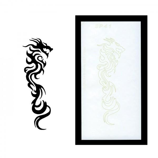 Selbstklebende XL-Schablone für Glitzer-Tattoos oder für Airbrush-Tattoo