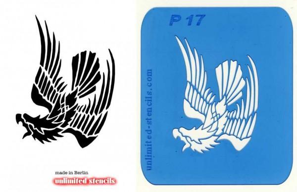 Mylar Airbrush Tattoo / Bodypainting Schablone ADLER MP17