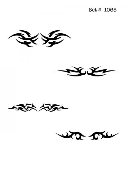 UNLIMITED STENCILS 4 selbstklebende DURA-LAR Airbrush Tattoo-Schablonen D1065