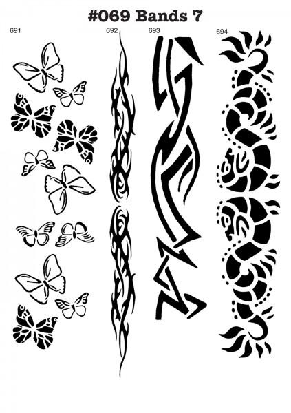 Airbrush-Tattoo-Schablonen MYLAR #069