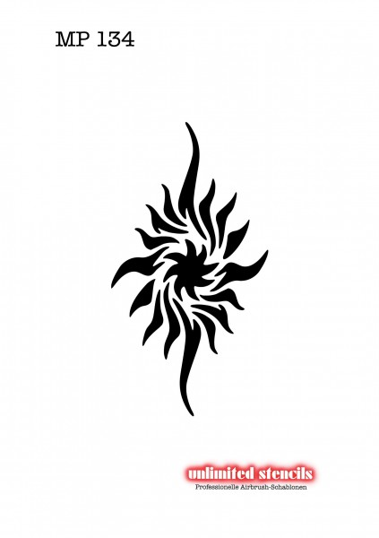 Mylar Airbrush Tattoo / Bodypainting Schablone MP134
