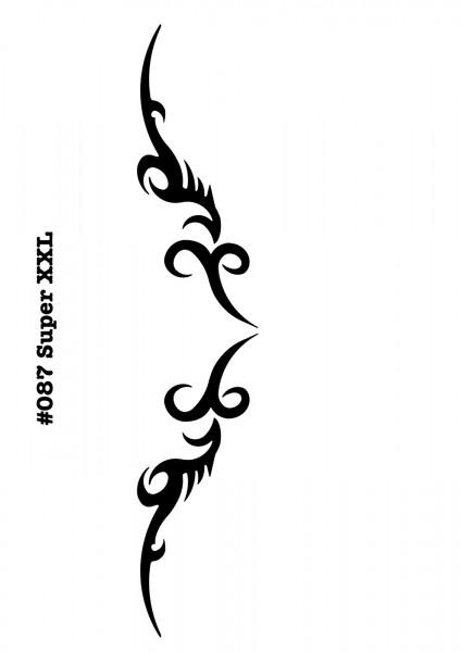 Airbrush-Tattoo-Schablone TRIBAL ARSCHGEWEIH MYLAR #087