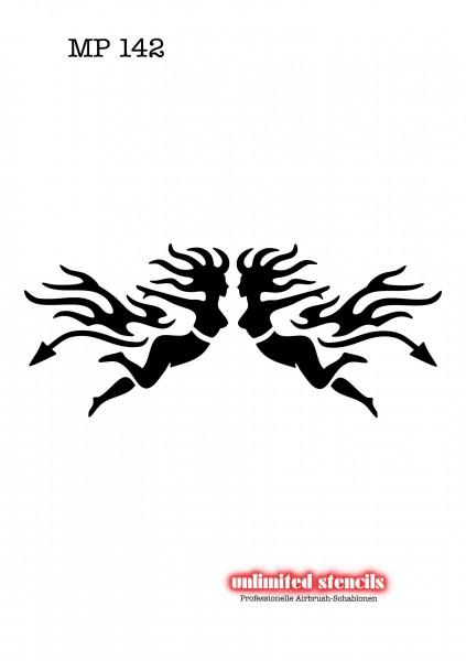 Mylar Airbrush Tattoo / Bodypainting Schablone MP142