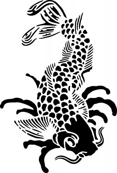Selbstklebende Schablone für Glitzer-Tattoos oder für Airbrush-Tattoo KOI SP145