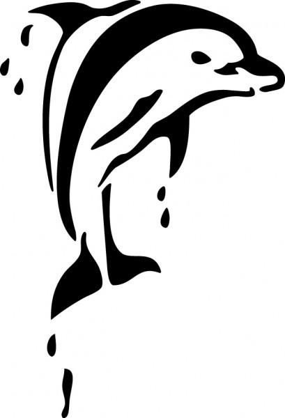 Selbstklebende Schablone für Glitzer-Tattoos oder für Airbrush DELFIN, SP108