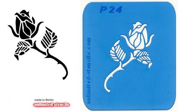 Mylar Airbrush Tattoo / Bodypainting Schablone ROSE MP24